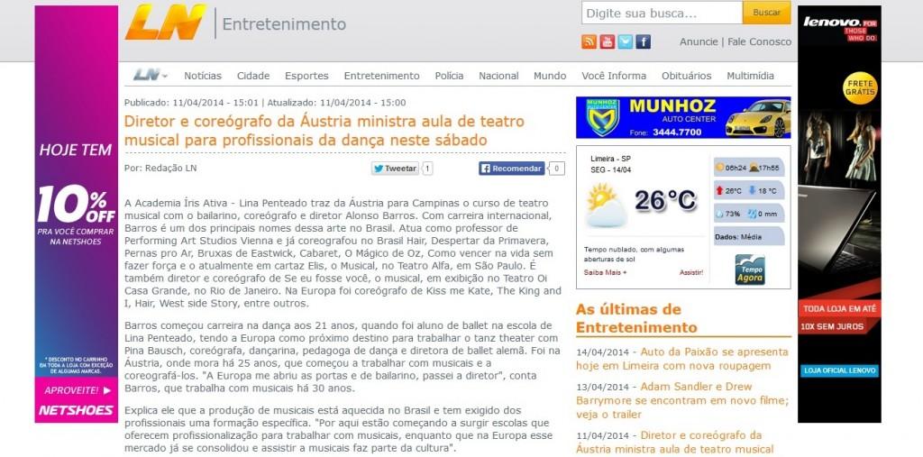 Matéria Limeira Alonso Barros